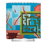 Labyrinth Day Shower Curtain