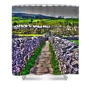Labyrinth Of Grassington Shower Curtain