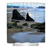 Labyrinths At Bandon Beach Shower Curtain