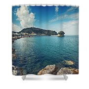 Lacco Ameno Harbour ,  Ischia Island Shower Curtain