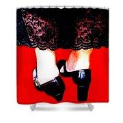 Lace Dress Uneven Heels Shower Curtain