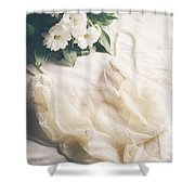 Laced Underwear Shower Curtain