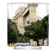 Lacerda Elevator In Salvador Bahia Shower Curtain