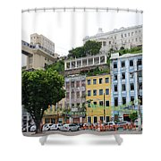 Lacerda Elevator In Salvador Shower Curtain