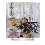 Lacey Curtain And Pastry Shower Curtain