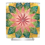 Lacey Petals Mandala Shower Curtain by Andrea Thompson