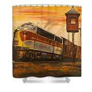 Lackawanna Fast Freight Shower Curtain