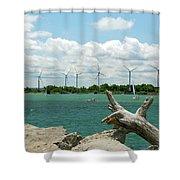 Lackawanna Wind Farm 5079 Shower Curtain
