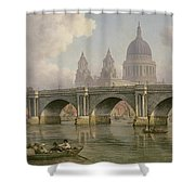 Blackfriars Bridge And St Paul's Cathedral Shower Curtain