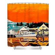 Laconner Last Water Front Panel Painting Shower Curtain