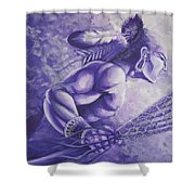 Lacrosse  Shower Curtain by Kerdy Mitcho