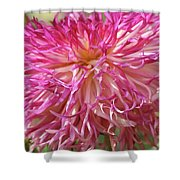 Lacy Dahlia Macro Shower Curtain
