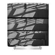 Ladders In The Sky Shower Curtain