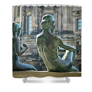 Ladies By The River Shower Curtain