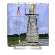 Ladies Delight Lighthouse Maine Shower Curtain