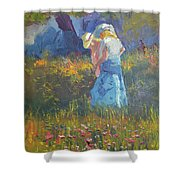 Ladies In The Woods Shower Curtain
