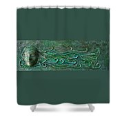 Lady Abstract Wall Sculpture Shower Curtain