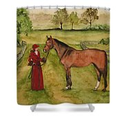 Lady And Horse Shower Curtain