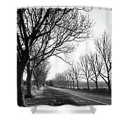 Lady Anne's Drive, Holkham Shower Curtain