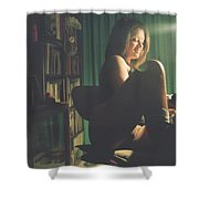 Lady At Studio Shower Curtain