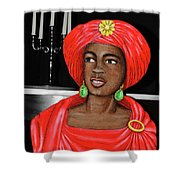 Lady At The Candelabra Shower Curtain