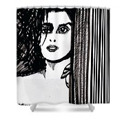 Lady At The Door Shower Curtain