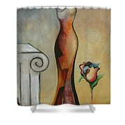 Lady Autunm Shower Curtain