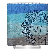 Lady Blue Shower Curtain