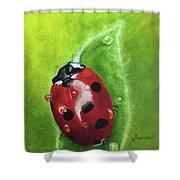Lady Bug II Shower Curtain