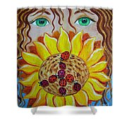 Lady Bug Peace Shower Curtain