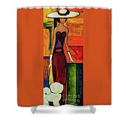 Bichon Frise Lady Shower Curtain