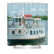 Lady Chadwick Boat - Cabbage Key Island, Florida Shower Curtain