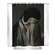 Lady Crying Shower Curtain