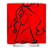 Lady Curves  Shower Curtain