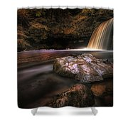 Lady Falls Waterfall Country Shower Curtain