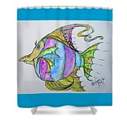 Lady Fish  Shower Curtain