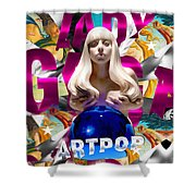 Lady Gaga Graphic Art Shower Curtain