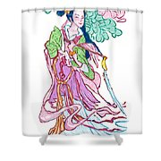 Lady He Of The Eight Immortals Shower Curtain