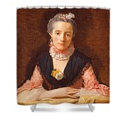 Lady In A Pink Silk Dress Shower Curtain