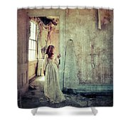 Lady In An Old Abandoned House Shower Curtain by Jill Battaglia