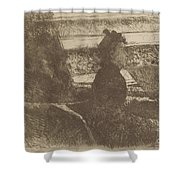 Lady In Black, In A Loge, Facing Right Shower Curtain