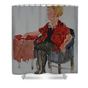 Lady In Chair Shower Curtain