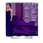 Lady In Lilac Room Shower Curtain