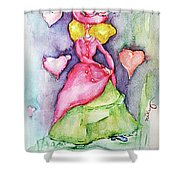 Lady In Love Shower Curtain