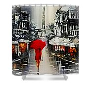 Lady In Paris Shower Curtain
