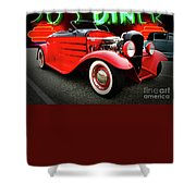Pow Wow Lady In Red Shower Curtain