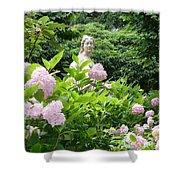 Lady In Salzburg Garden Shower Curtain