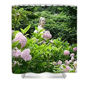 Lady In Salzburg Garden Shower Curtain