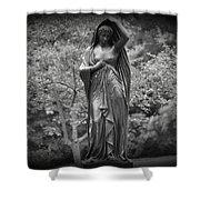 Lady In The Garden 2 Shower Curtain
