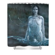 Lady In The Lake Shower Curtain